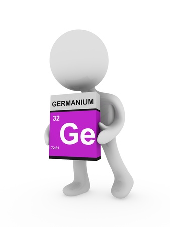 3d man carry a germanium box
