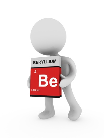 3d man carry a beryllium box photo