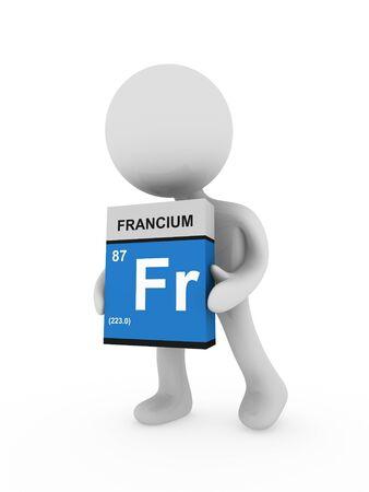 3d man carry a francium box photo