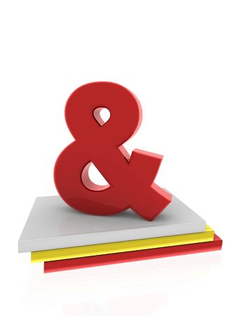 Ampersand symbol on books Stock Photo - 13989801