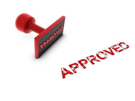 approved stamp Stock Photo - 13989997
