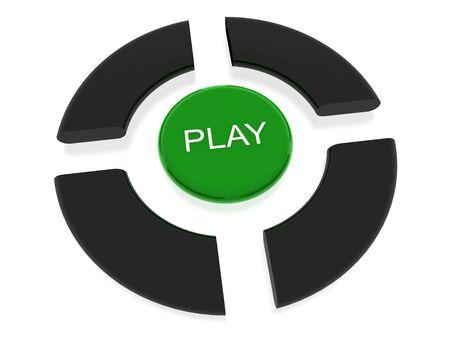 play button Stock Photo - 13989918