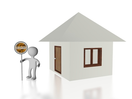 home reserved banner Stock Photo - 13989995