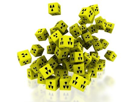 radioactive boxes Stock Photo - 13990333