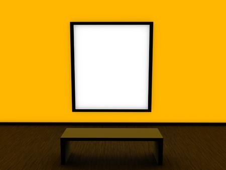 modern interior design yellow wall  photo