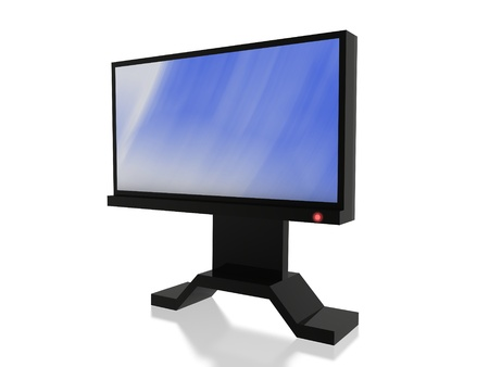 lcd blue screen Stock Photo - 13989803