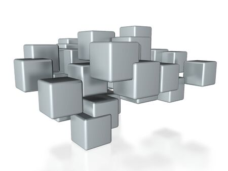 metallic cubes  photo
