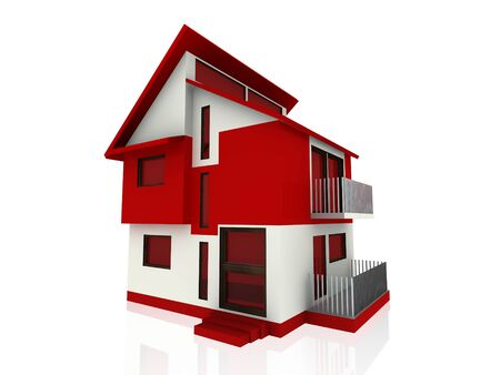 detached house: modern big home Stock Photo