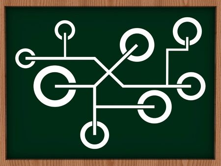 network on blackboard  photo