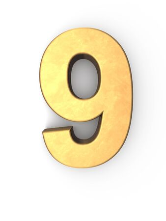 number nine golden metal texture  photo