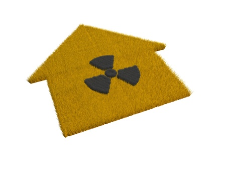 house with radioactive symbol  Stock Photo - 13990618
