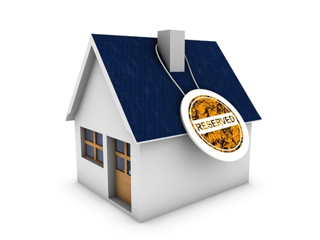 home reserved banner Stock Photo - 13990201