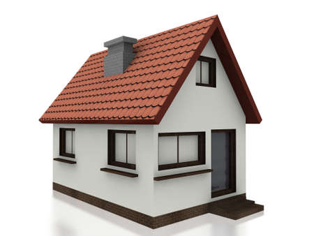 detached house: 3d small home