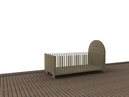 wooden bed  photo