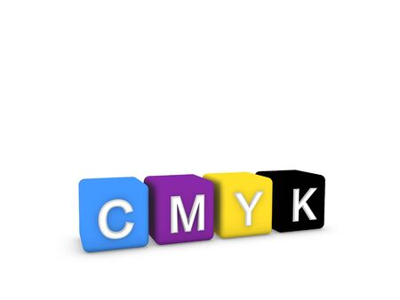 polygraph: CMYK colors  Stock Photo