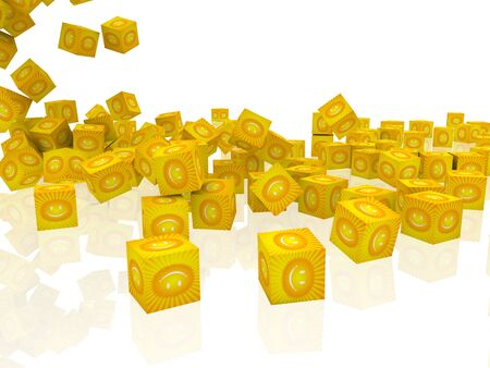 cubes with smiley face photo