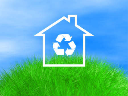 eco house on natural space  Stock Photo - 14044198