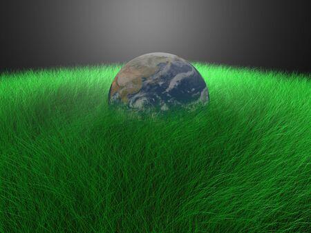 globe in grass Stock Photo - 14043162