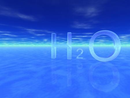 distilled water: s�mbolo qu�mico del agua, H2O