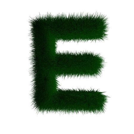 letter e made of grass  photo
