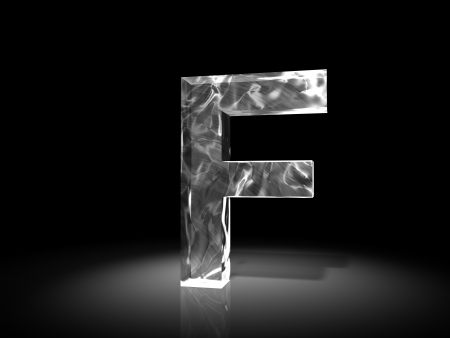 alphabetic character: letter F of ice