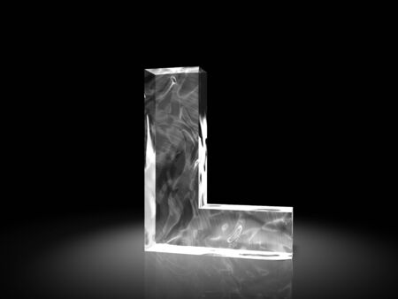 alphabetic character: letter L of ice