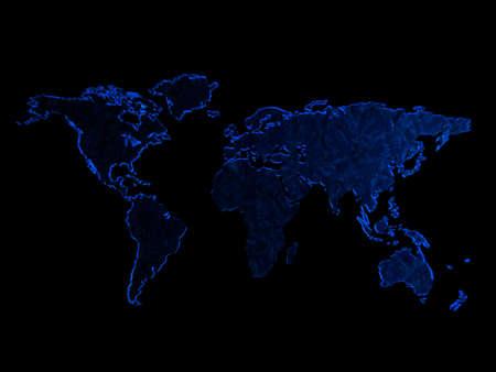 map isolated on black background  Stock Photo