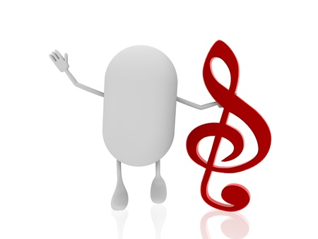quavers: pill with music note