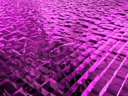ice surface: surface with pink cubes made of ice  Stock Photo