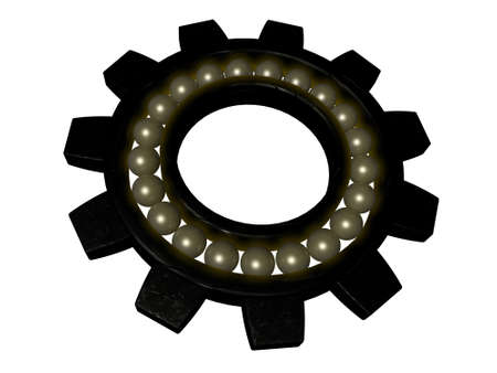 bearing gear isolated on white
