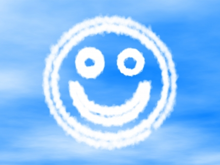 smiley made of cloud  Stock Photo
