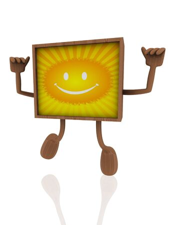 smiley wooden banner Stock Photo - 14034779