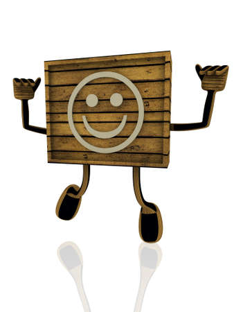 body dimensions: smiley wooden banner