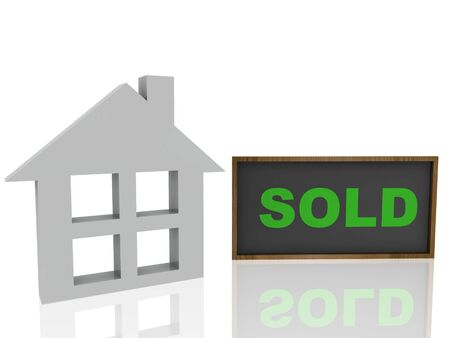 sold house  Stock Photo - 14034579