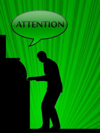withdrawal: businessman making a withdrawal  Illustration
