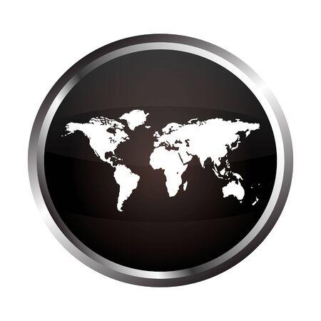 map button  Vector