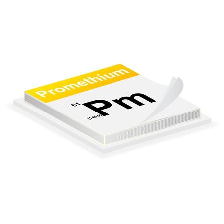 barium: Promethium button