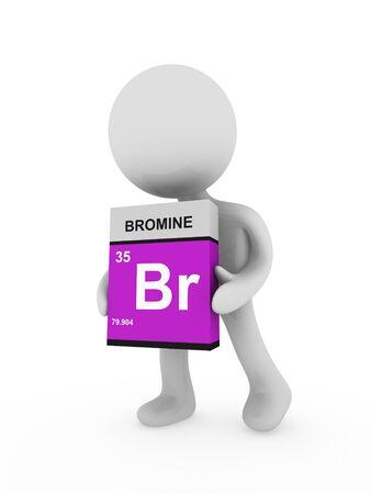 boron: 3d man carry a bromine box