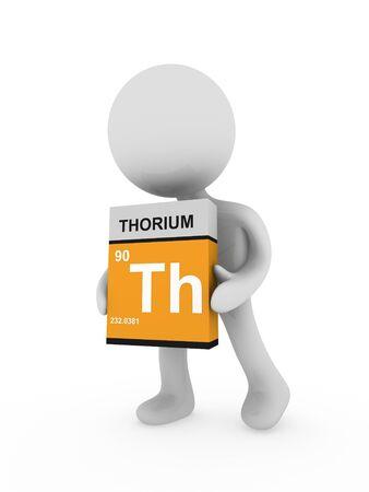 thorium: 3d man carry a thorium box