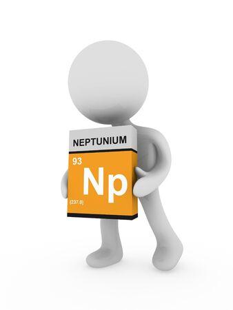 3d man carry a neptunium box