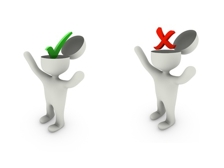 accept and reject symbol Stock Photo - 18458014