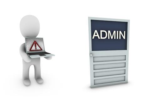 admin person Stock Photo - 18458823