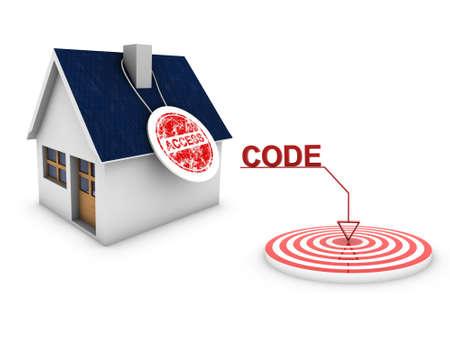 code access home Stock Photo