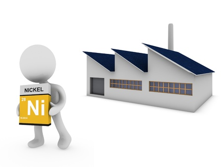 nickel: nickel factory  Stock Photo