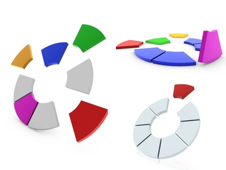 accounting icon: 3d pie chart