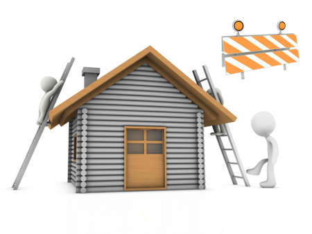 under construction home Stock Photo - 18459020