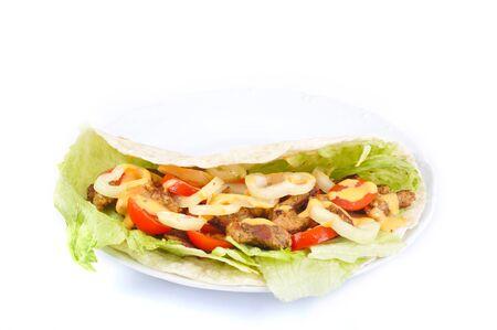 pita: Kebab with vegetable