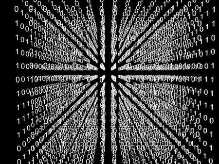 Binary code matrix in cube Stock Photo - 7583910