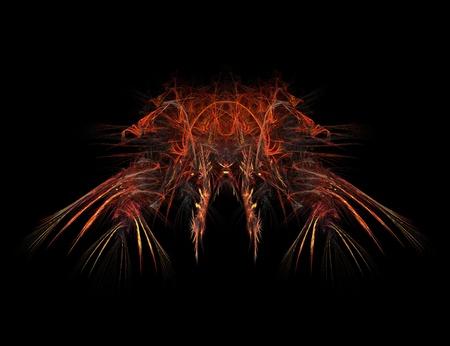 diable rouge: Diable rouge fractale Banque d'images