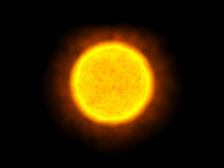 zon maan: De zon alleen in de ruimte